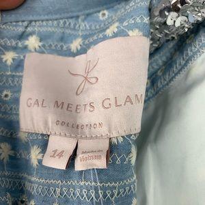 Gal Meets Glam Dresses - Gal Meets Glam Quinn Chambray Eyelet Dress